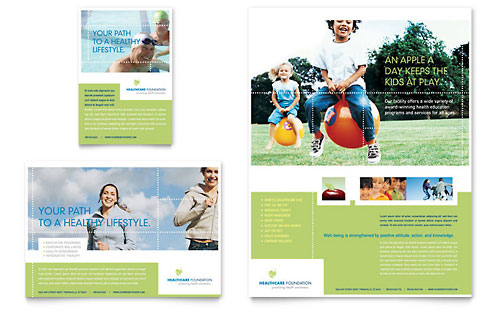Healthcare Management Flyer & Ad Template - Microsoft Office
