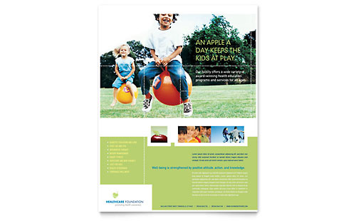 Healthcare Management Flyer Template Design