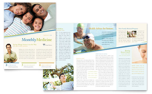 Family Physician Newsletter Template Design