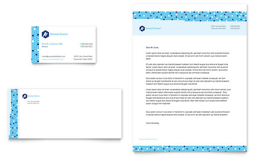 Dentistry & Dental Office Business Card & Letterhead Template - Microsoft Office