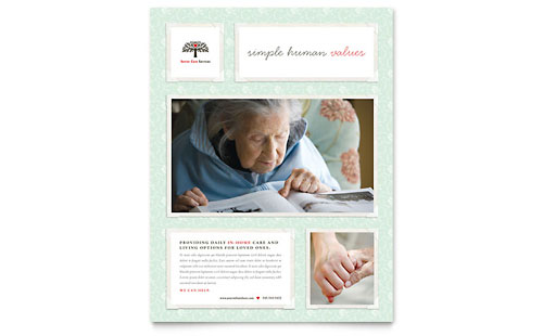 Senior Care Services Flyer Template Design