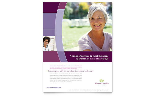 Women's Health Clinic Flyer Template Design