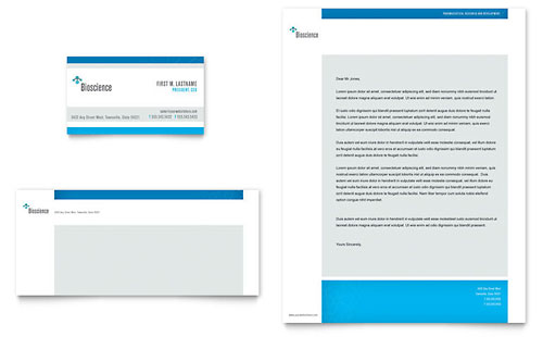 Science & Chemistry Business Card & Letterhead Template - Microsoft Office