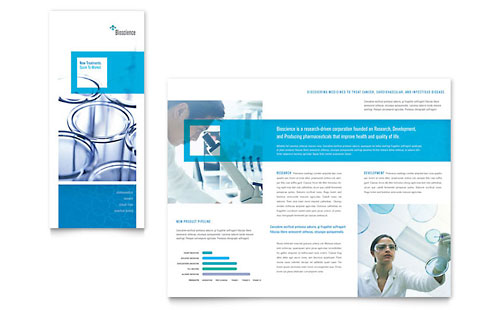 Science & Chemistry Tri Fold Brochure Template - Microsoft Office