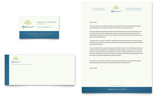 Senior Living Community Business Card & Letterhead Template Design