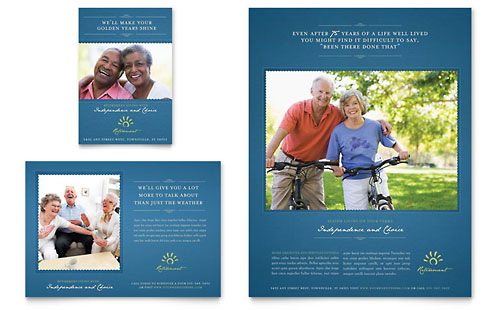 Elder Care & Nursing Home Brochure Template - Word & Publisher