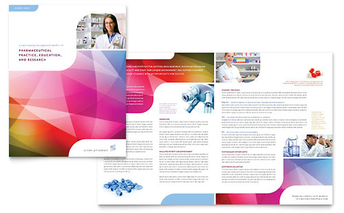 Pharmacy School Brochure Template - Microsoft Office