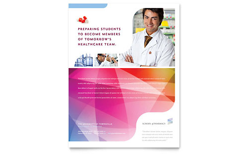 Pharmacy School Flyer Template - Microsoft Office
