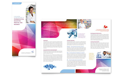 Pharmacy School Tri Fold Brochure Template Word Publisher – Free Download Brochure Templates for Microsoft Word