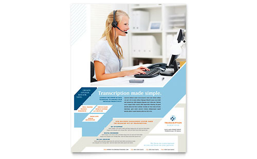Medical Transcription Flyer Template Design
