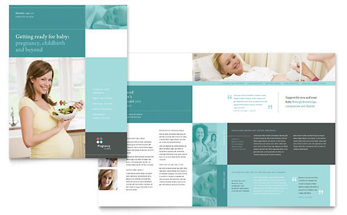 Pregnancy Clinic Brochure Template Design