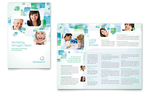 Orthodontist Brochure Template - Microsoft Office