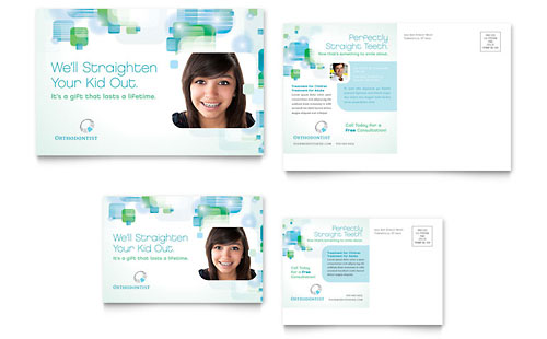 Orthodontist Postcard Template Design
