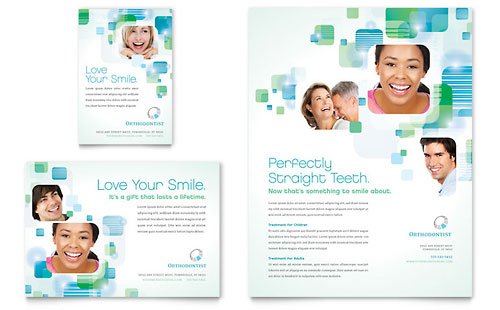 Orthodontist Flyer & Ad Template Design