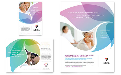 Marriage Counseling Flyer & Ad Template - Microsoft Office