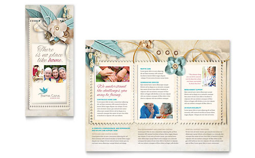 Hospice & Home Care Tri Fold Brochure Template Design