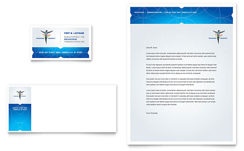 Reflexology & Massage Business Card & Letterhead Template - Microsoft Office