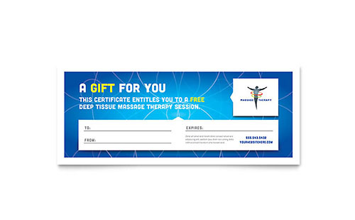 Reflexology Massage Gift Certificate Template Word Publisher
