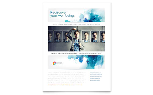Behavioral Counseling Flyer Template - Microsoft Office