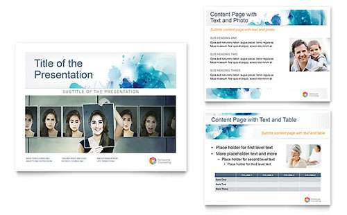 Behavioral Counseling PowerPoint Presentation Template Design
