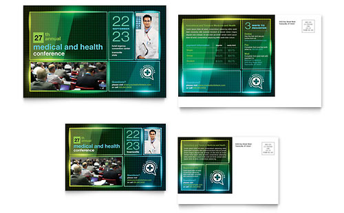 Medical Conference Postcard Template - Microsoft Office