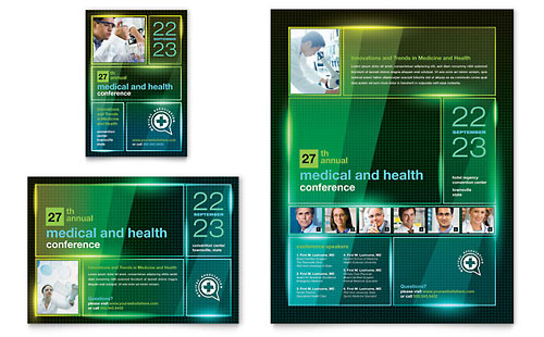 Medical Conference Flyer & Ad Template - Microsoft Office