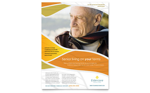 Assisted Living Postcard Template Word Amp Publisher