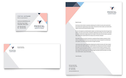 Disability Medical Equipment Business Card & Letterhead Template - Microsoft Office