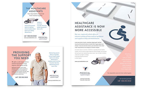 Disability Medical Equipment Flyer & Ad Template - Microsoft Office