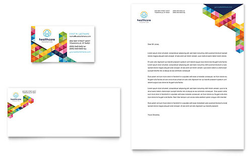 Health Fair Business Card & Letterhead Template - Microsoft Office