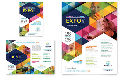 Health Fair Flyer & Ad Template - Microsoft Office