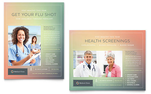 Medical Clinic Poster Template - Microsoft Office