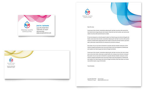 Insurance Consulting Business Card & Letterhead Template - Microsoft Office
