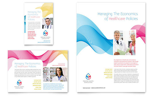 Insurance Consulting Flyer & Ad Template - Microsoft Office