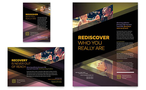 Rehab Center Flyer & Ad Template - Microsoft Office