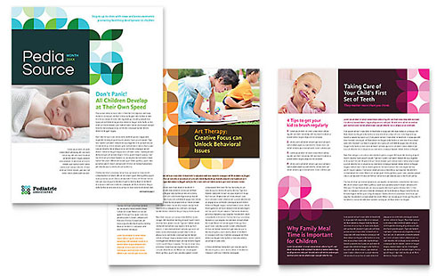 Pediatric Doctor Newsletter Template - Microsoft Office
