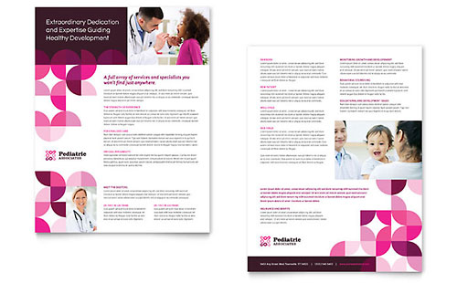 Pediatric Doctor Datasheet Template