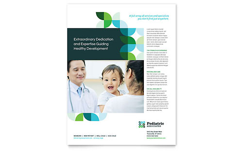 pediatrician flyer templates word publisher