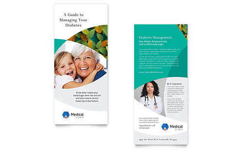Doctor's Office Rack Card Template - Word & Publisher