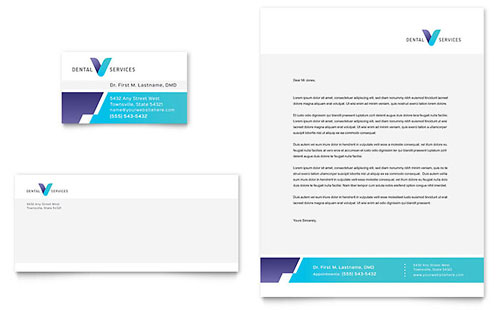 Dentist Business Card & Letterhead Template - Word & Publisher