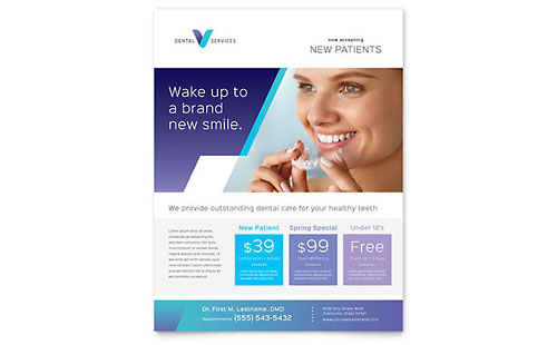Dentist Flyer Template Design