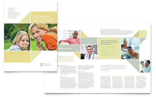 Health Insurance Brochure Template - Microsoft Word