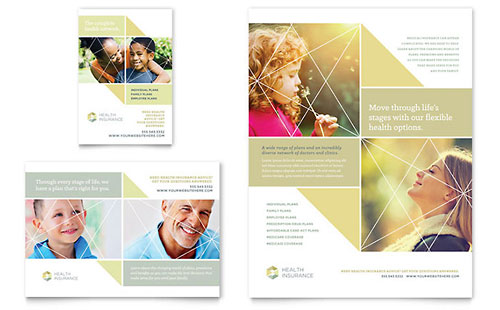 Health Insurance Flyer & Ad Template Design