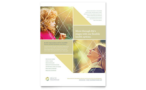 Health Insurance Flyer Template Design