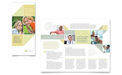 Health Insurance Tri Fold Brochure Template Design