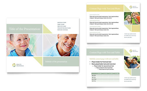 Health Insurance PowerPoint Presentation Template Design