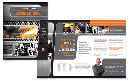 Manufacturing Engineering Brochure Template - Microsoft Office