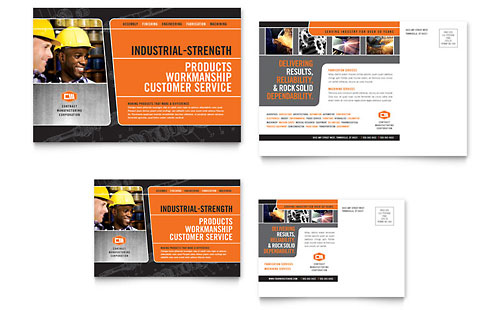 Manufacturing Engineering Postcard Template - Microsoft Office