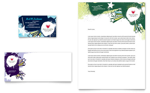 Child Advocates Business Card & Letterhead Template - Microsoft Office