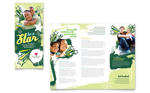 Child Advocates Tri Fold Brochure Template - Microsoft Office